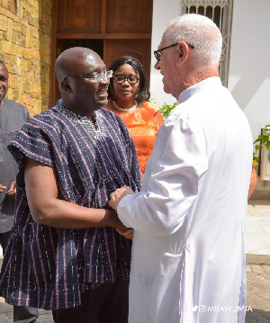 Father Campbell and Vice President Dr. Mahamudu Bawumia