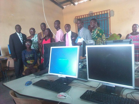 Newly established ICT centre at Aiyinasi Methodist Junior High School in the Ellembelle