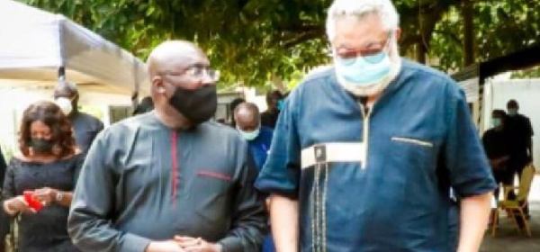 Bawumia leads govt delegation to mourn with Rawlingses