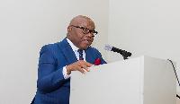 The Speaker of Parliament, Professor Aaron Michael Oquaye