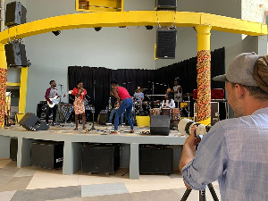 A band in rehearsal