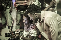 Behind the scene pictures of Bisa Kdei