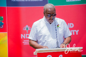 Mr Mahama Speaking At The Launch Of His Campaign