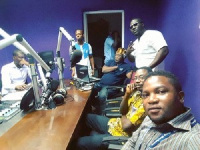 Willie Roi and Justice Oteng at Pluzz 89.9 FM studios