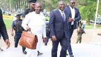 Ken Ofori-Atta with vice president Mahamudu Bawumia