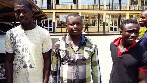 From left: Kwabena Yeboah aka Mugabe, Cosmos Akwasi Frimpong and Samuel Duah aka Sammy Tuga
