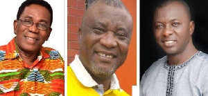 Professor Kwesi Yankah, Mr Hopeson Adorye and  Dr. Mohammed Amin Adam