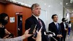 U.S. Deputy Secretary of State Stephen Biegun speaks to the media, REUTERS/Kim Hong-Ji/Pool