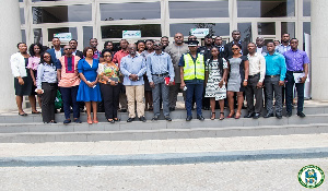Officials of AMA and Bloomberg Philanthropies Initiative for Global Road Safety in a group picture