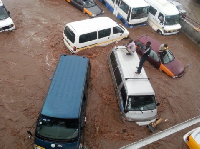 Some flooded areas in the capital