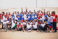 Some members of ewly-launched Ghana United Footballers Association