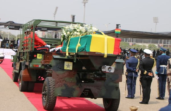 Ghana buries towering leader Rawlings with military honours