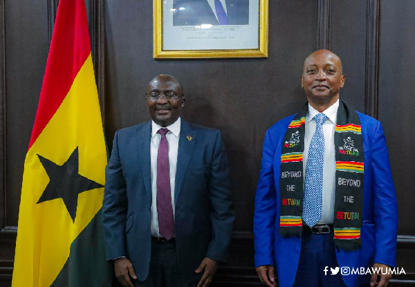 We are looking forward to big things – Dr. Bawumia to CAF President Patrice Motsepe