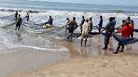 Some fishermen at work