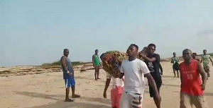 Leaders of the Apam community are performing rites to retrieve the remaining bodies