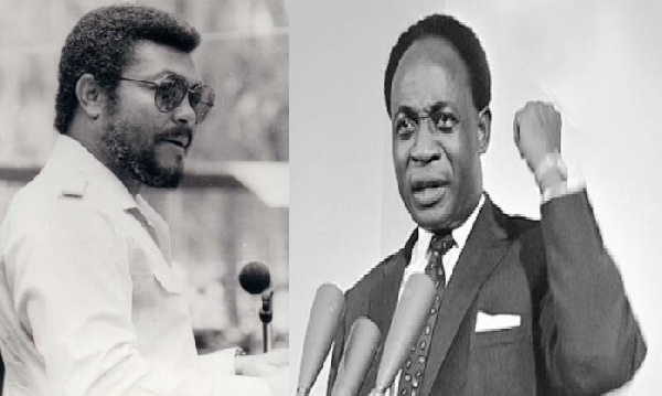 Ghana's former presidents, JJ Rawlings and Kwame Nkrumah