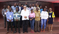 Former President Jerry John Rawlings in a photograph with the participants