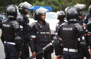 Some personnel of the Ghana Police Service according to reports have sustained injuries [File photo]