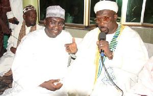 Dr Bawumia with Ashanti Regional Chief Imam, Abdul Mumin Haroun