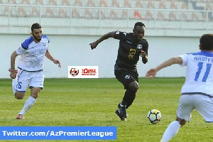 Essien in action for Sabail FC