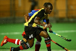 The Ghana - Namibia hockey game
