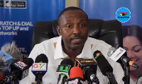 John Boadu, acting General Secretary of the New Patriotic Party addressing the media