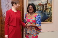 Ambassador Blay with the President of Estonia, Kersti Kaljulaid