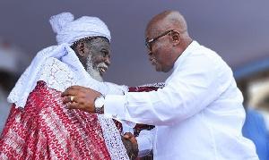 National Chief Imam, Dr. Sheikh Osman Sharubutu and President  Akufo-Addo