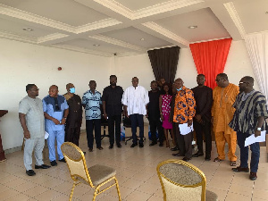 CSK Agumenu's family in a group photo with the NDC Functional Executive Committee