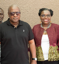 Nana Oye Lithur and John Mahama after their meeting