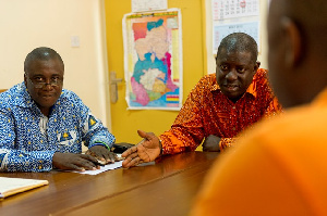 TAQA Ghana Managing Director Osafo Adjei with his counterparts from VRA