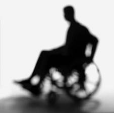 Physically Challenged On Wheelchair