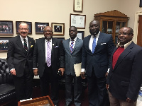 L to R: US congressman Engel, Ambassador Smith,  Baah Duodu, PAM's CEO Koranteng & Obed Danquah