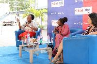 From [L-R]: CEO of Allure Dzigbordi Dosoo, Nana Aba Anamoah, AirtelTigo CEO Roshi Motman