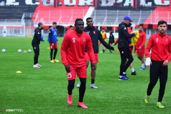 Striker Kwame Opoku hits ground running with USM Alger training match goal