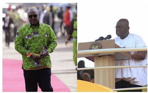 Ex-President Mahama (L) and President Akufo-Addo (R)