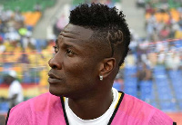 Asamoah Gyan, captain of the Black Stars