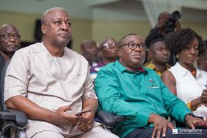 John Dramani Mahama and Samuel Ofosu Ampofo