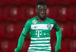 Abraham Akwasi Frimpong joins the Mauve and White lads on a three-year deal from Ferencvaros