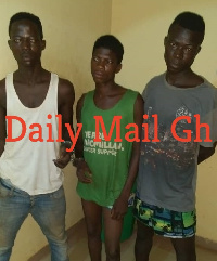 The suspects are Yaw Owusu, Henry Sarpong and Kwame Amponsah