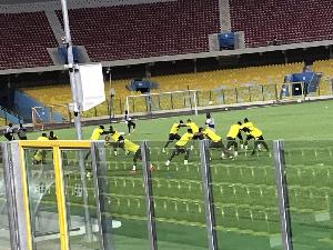Black Stars at training