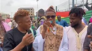 Accra Hearts of Oak duo Larry Sumaila and Nurudeen Abdul Aziz meet Madina MP Francis-Xavier Sosu
