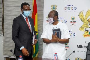 Ammishaddai Owusu-Amoah, Commissioner-General of the GRA and Ken Ofori Atta, Finance Minister