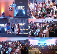 Scenes from the awards