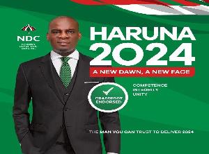 Haruna Iddrisu 2024 NDC Poster