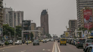 A file photo of Kinshasa's central business district