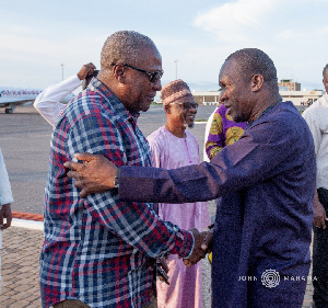 Former President John Dramani Mahama and Alban Bagbin