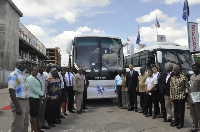 Officials of Japan Motors say the new buses are designed to provide comfort and comvenience