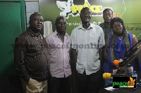 Jaga Pee with Socrate Sarfo, others in the studio of Peace FM
