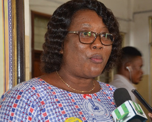 The National President of GNAT, Mrs Philippa Larsen